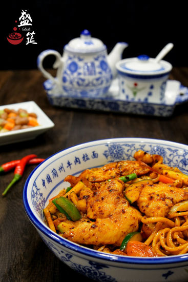 Picture of Lanzhou Stir Fried Noodles with Chicken兰州鸡肉炒面